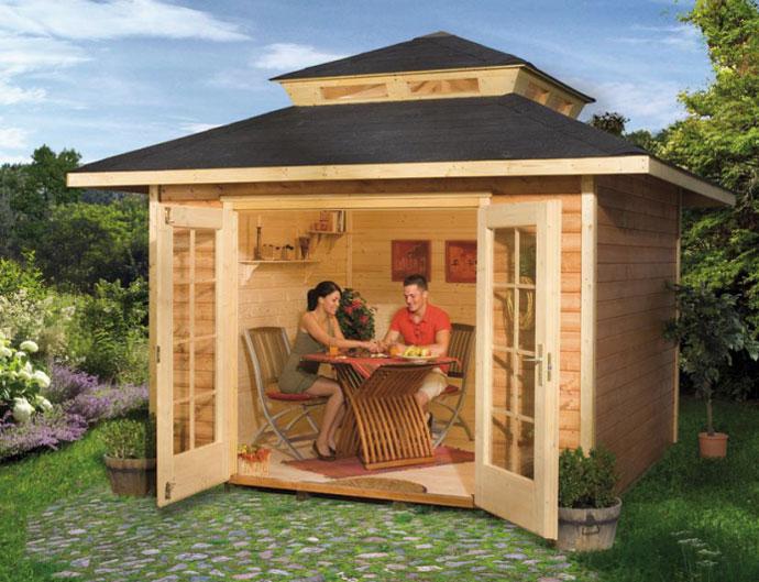Строим своими руками садовый домик
