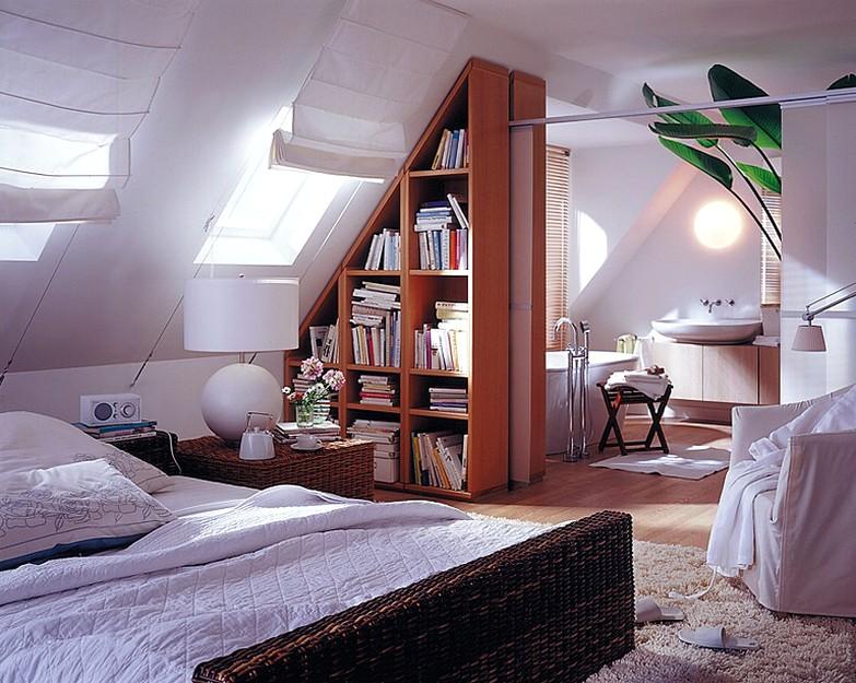 Комната мансардного типа дизайн