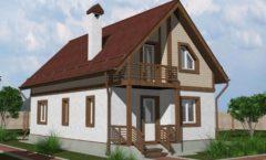 Эскиз к проекту каркасного дома Размеры: 6 х 10,5 м  Площадь: 121 кв.м